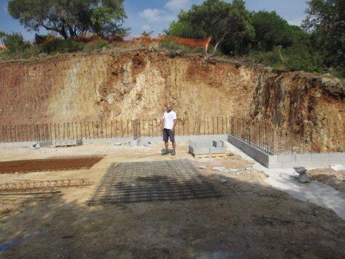 Domaine Cirrus : sur le chantier de la cave de Durban-Corbières - été 2017