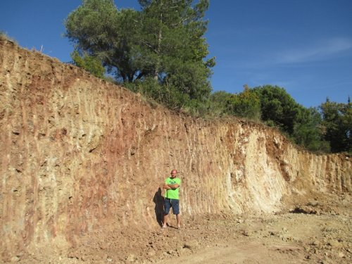 chantier de la cave de Durban, excavation terminée.