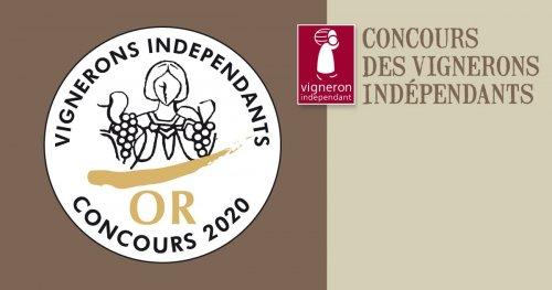 Médaille d'Or 2020 Vignerons Indépendants - cuvée Exception